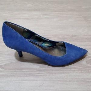Anne Klein iflex Blue Kitten Heel Size 9